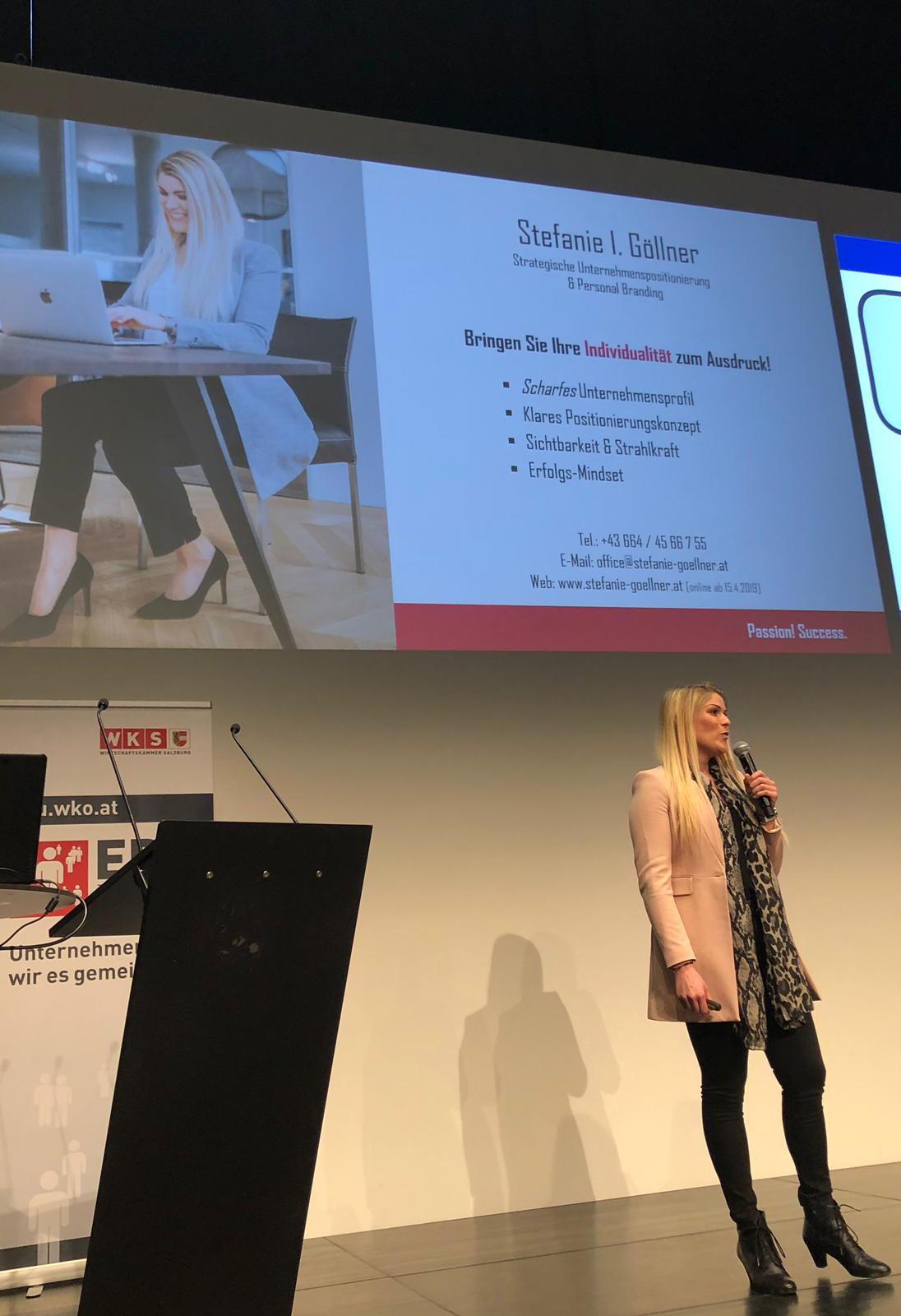 Vortrag Stefanie Göllner Salzburg beim EPU-Tag der Wirtschaftskammer Salzburg