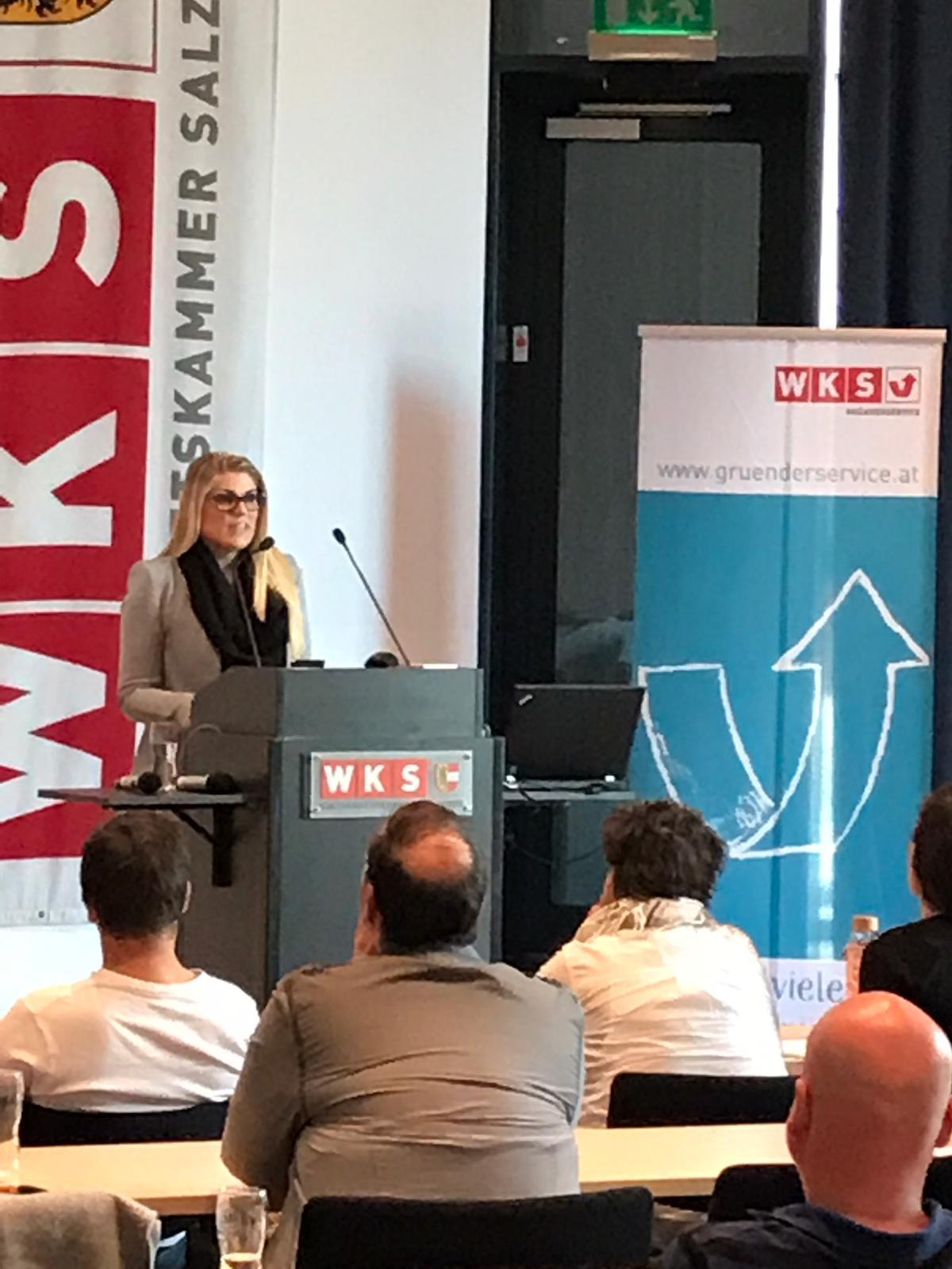 """Vortrag beim """"Gründer-und Unternehmertraining"""" 2019 der Wirtschaftskammer Salzburg Personal Branding"""