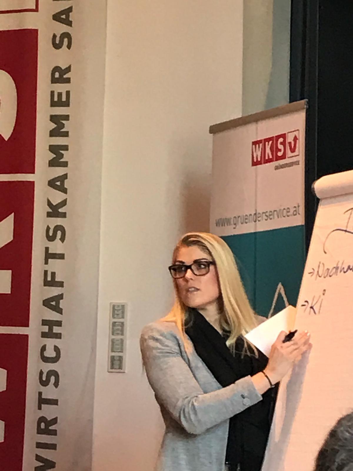 """Gründer- und Unternehmertrainings"""" 2019 der Wirtschaftskammer Salzburg Stefanie Göllner Salzburg"""